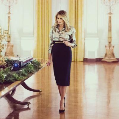 Melania Trump esitteli Valkoisen talon joulukoristeita