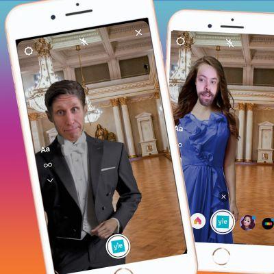 Linnan juhlat 2020 Instagramfiltterin näyttökuva.