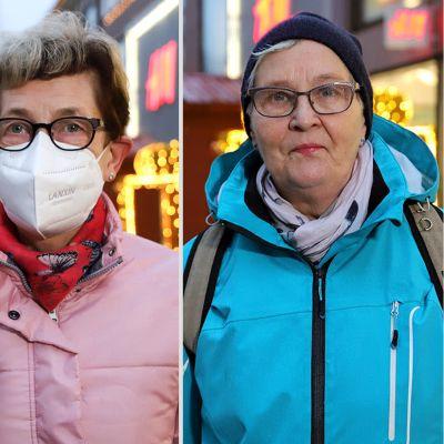 Mirja Salmela, Elina Lehmuskoski ja Sirkka Mäkinen.