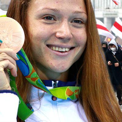Uinnin MM-voittaja ja olympiamitalisti Aleksandra Gerasimenja on nykyään osa Valko-Venäjän urheilijoiden suurta protestiliikettä.