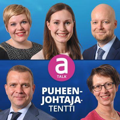 A-Talk: Puheenjohtajatentti -mainoskuva.