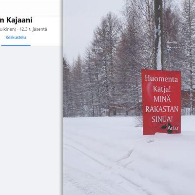 Kuvakaappaus Meidän Kajaani -Facebook-ryhmästä.