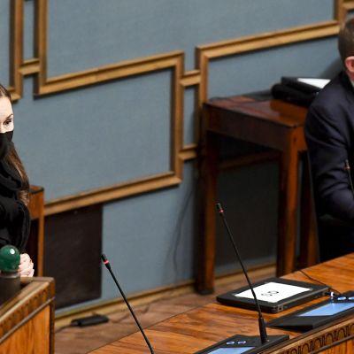 Eduskunnan täysistunto 10.2.2021