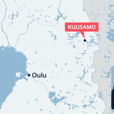 Maanjäristys Kuusamossa.
