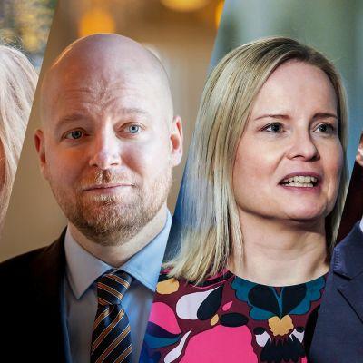 A-talkin vieraina ovat varapuheejohtajat Niina Malm, Jussi Saramo, Riikka Purra ja Antti Häkkänen.