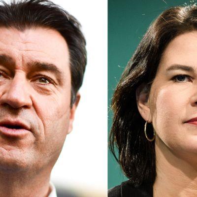 Markus Söder ja Annalena Baerbock.
