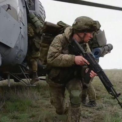 Venäjän sotaharjoitukset Krimillä