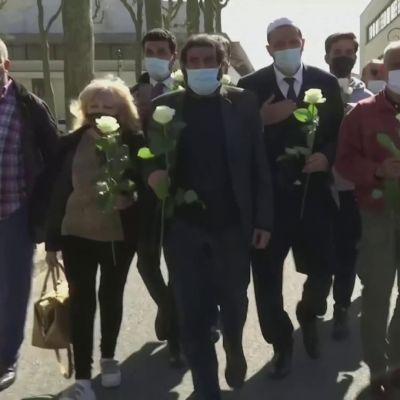 Ranskassa muistettiin terroristin uhria