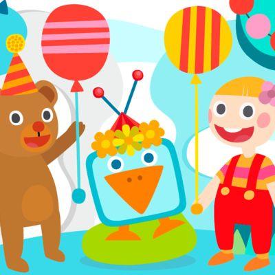 Pikku Kakkosen vappumuskarit animaatiokaverit