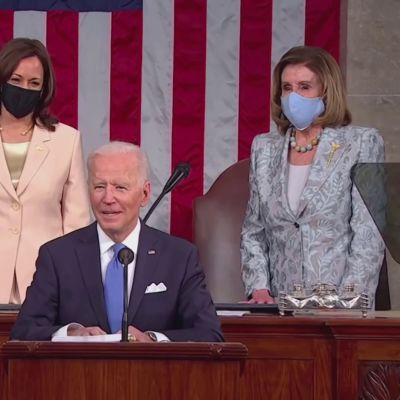 Bidenin puhetilaisuudessa rikkoutui yksi lasikatto
