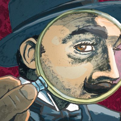 Suurennuslasi Hercule Poirotin yllä