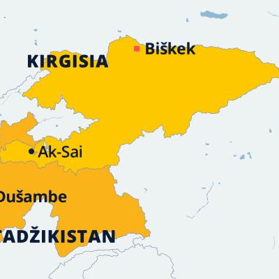 Kirgisian kartta.