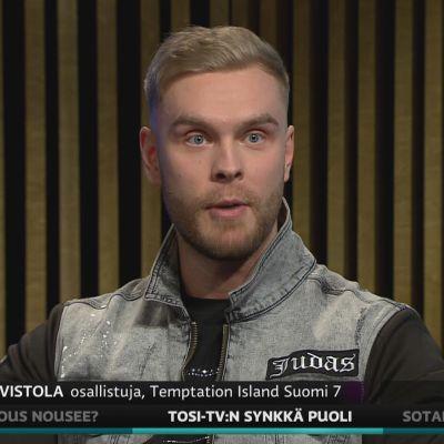 Valto Harvistola kertoi A-studiossa kokemuksiaa reality-sarjaan osallistumisesta.