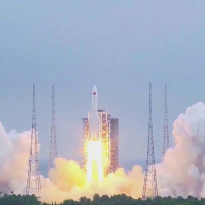 Kiinalainen kantoraketti laukaistiin viime viikolla kiertoradalle, osia voi pudota Maahan