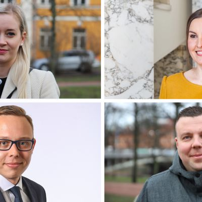 Sofia Virta, Eeva Kalli, Matias Marttinen ja Mikko Lundén.