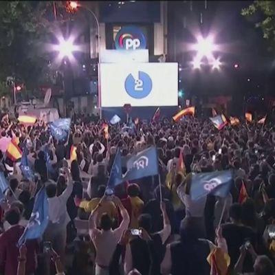 Oikeisto juhlii voittoa Madridin aluevaaleissa