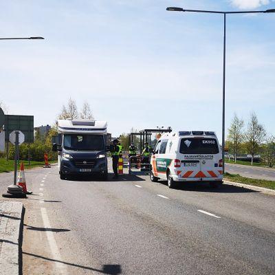 Rajavalvontaa suoritetaan Suomen ja Ruotsin rajalla Torniossa.
