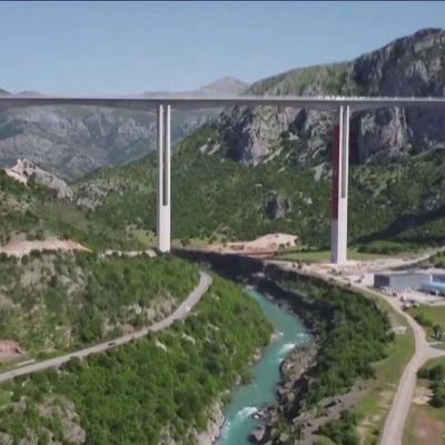 """Kiinan rahoittama miljardihanke korvaa """"kuoleman tien"""" Montenegrossa"""