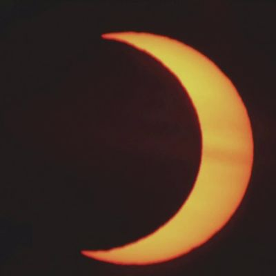 Tällaisena auringonpimennys näkyi Pohjois-Amerikassa ja Islannissa