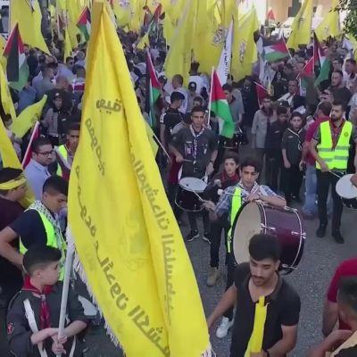 Palestiinalaiset osoittivat mieltä presidentti Mahmoud Abbasia vastaan Ramallahissa