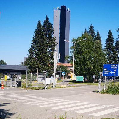 Kemin Elijärven kaivoksen portti.