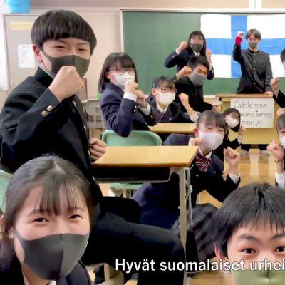 Tällaisen videon Sobetsun kaupunki teki suomalaisurheilijoille