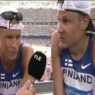 Jarkko Kinnunen antoi kaikkensa olympiakävelyssä Pekingissä 2008 – kielen kramppaus haastattelussa huvitti