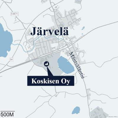 Mäntsäläntien uusi liittymä Koskisen Oy tehdasalueelle