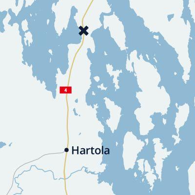 Kartta Hartola.