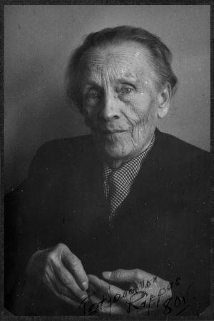 Viulupedagogi Tatjana von Rippas 80-vuotispäivänään 1962.