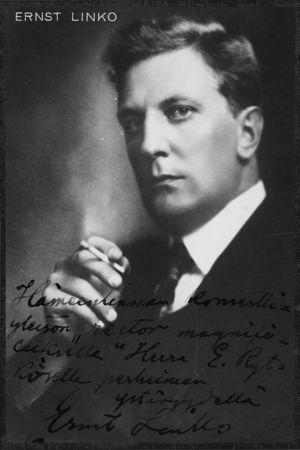Pianotaiteilija Ernst Linko 1926.