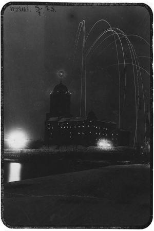 Ilotulitus Viipurin linnasta 5. helmikuuta 1925.