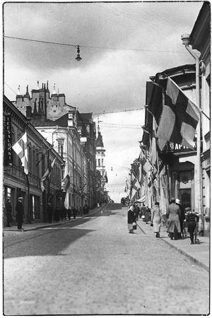 Viipurin Linnankatu 1930-luvulla.