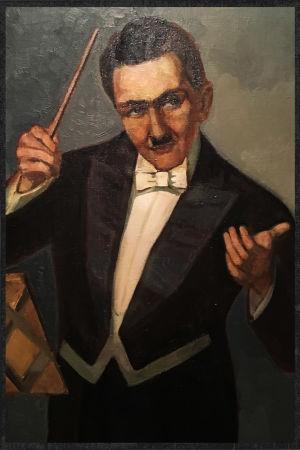 Boris Sirob johtaa frakissa. Väinö Raution maalaus vuodelta 1931.