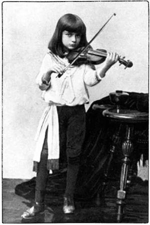 Viulun ihmelapsi Bronislaw Huberman vuonna 1889.
