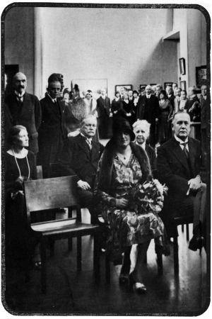 Viipurin taidemuseon avajaiset syksyllä 1930.