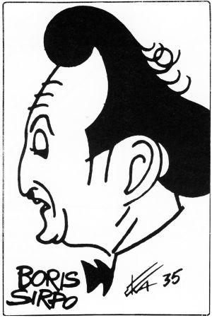 Eka Karppasen piirros viulisti Boris Sirposta 1935.