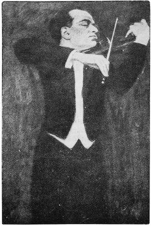 Piirros viulutaiteilija Bronislaw Hubermanista.