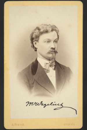 Martin Wegelius käyntikorttikuvassa 1870-luvun alussa.