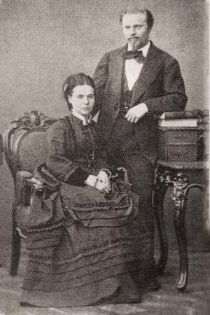 Martin ja Hanna Wegelius vuonna 1874.