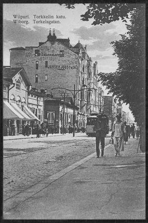 Torkkelinkatu postikortissa.