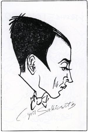 Eka Karppasen pilapiirros Cyril Szalkiewiczista.