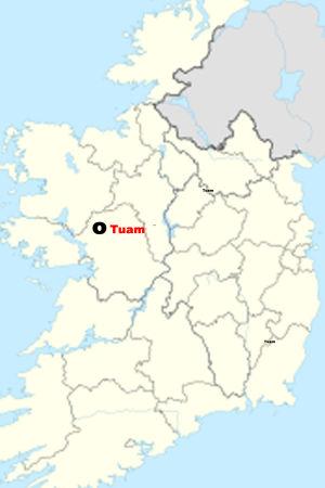 Karta över Tuam på Iraland