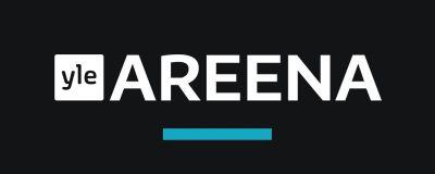 Yle Areenan logo mustalla taustalla.