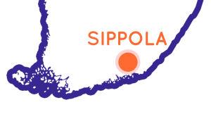 Finlands karta som visar Sippolas position.