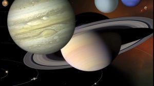 En bild på solsystemet. Instagraminlägg.