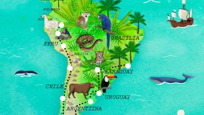 Kolmessa tunnissa halki Etelä-Amerikan