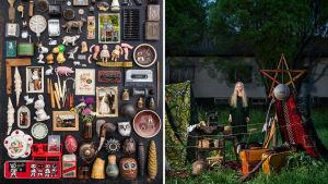 Aja Lunds samlingar med diverse saker.