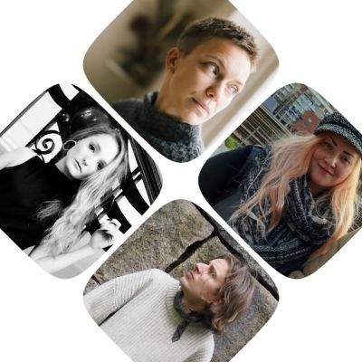 Författarna Lina Bonde,m Rosanna Fellman, Sinéad Obrey och Victor von Hellens i ett collage.