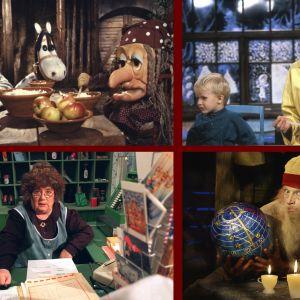 Kooste neljästä joulukalenterista: Histamiini, Miitta-täti. Olga P. Postinen ja Neponen.